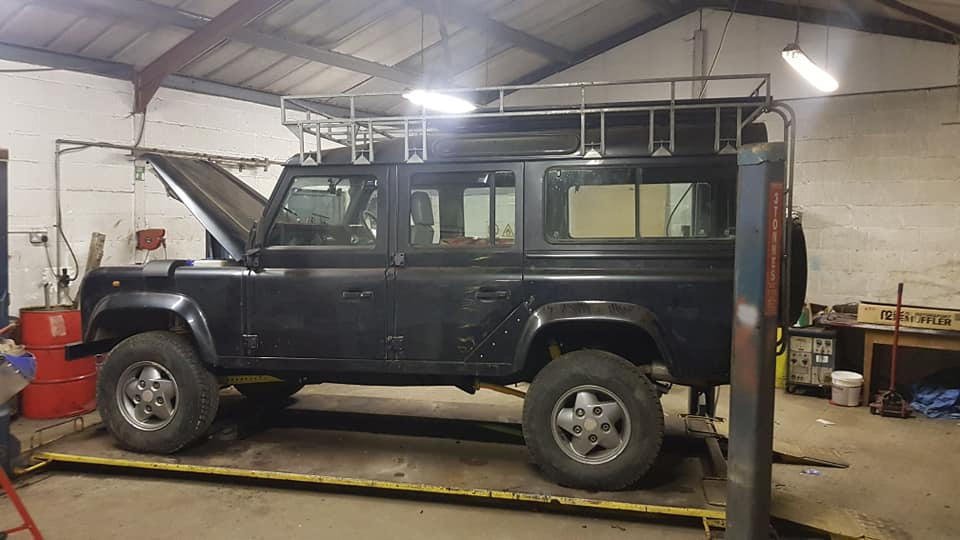 Land Rover 110 Serviced at SAS Tyres Glastonbury