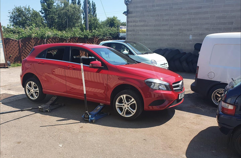 Mercedes brake check glastonbury somerset
